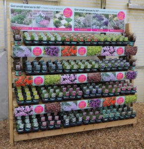 Display at Aylings Garden Centre